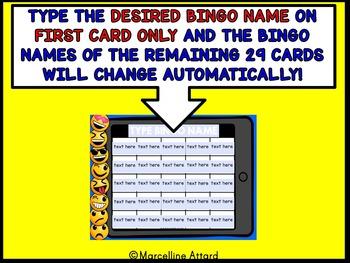 BACK TO SCHOOL EMOJI ACTIVITY (TECHNOLOGY THEME EDITABLE SIGHT WORDS GAME (BINGO