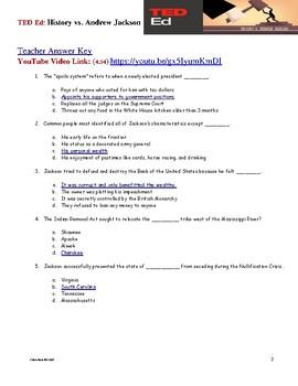 TED ED - History v Andrew Jackson - Free Video Quiz