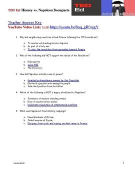 TED ED - History v. Napoleon Bonaparte - Free Video Quiz