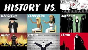 TED Ed: History vs...Bundle Video Quizzes  Napoleon Cleopatra Jackson Khan Lenin