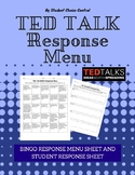 TED Talk BINGO Response Menu