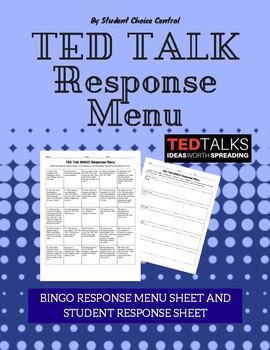 TED Talk All-Subject Response Menu