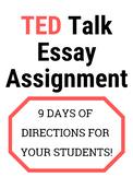 TED Talk Essay Assignment Sheet