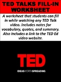 TED Talks Fill-in Worksheet