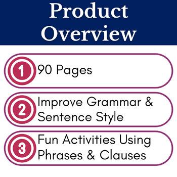 ELA Sentence Structure Activities Bundle