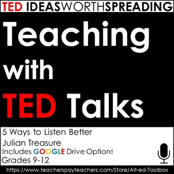 TED Talk Lesson (5 Ways to Listen Better)  with Google Drive Option