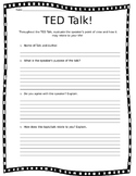 TED Talk Questionnaire