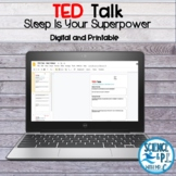 TED Talk: Sleep Is Your Superpower (PDF and Google Slides)