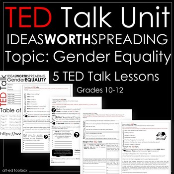 TED Talk Unit- 5 Talks About Gender Issues