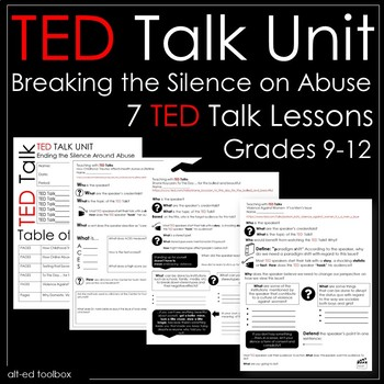 TED Talk Unit - 7 Talks about Ending the Silence on Abuse