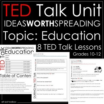 TED Talk Unit - 8 Talks About Education