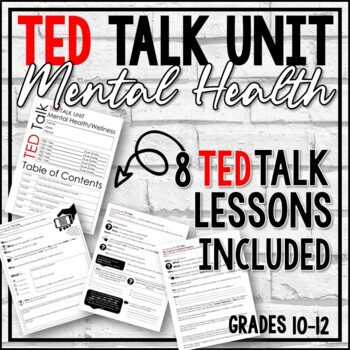 TED Talk Unit- 6 Talks About Mental Health Issues