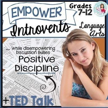 """Empower Student Introverts TED Talks """"Power of Introverts"""" Lesson + Assessments"""