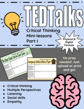 TED Talks: Critical Thinking Minilessons