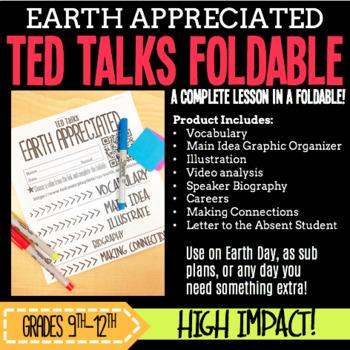 TED Talks Foldable: Earth Appreciated