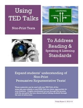 TED Talks for Informational Speaking/Listening & Reading Skills