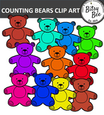 TEDDY BEAR COUNTERS  CLIP ART  FREEBIE