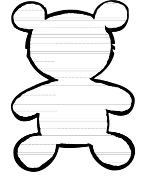 TEDDY BEAR WRITING TEMPLATE