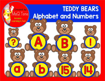 TEDDY BEARS ALPHABET AND NUMBERS