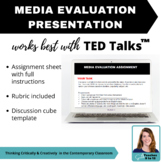 Media Text Presentation Assignment with rubric - ELA, Social Science + more!
