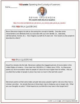 TEDucate - Bryan Stevenson TED Talk Lesson on Racial Injustice