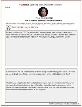 TEDucate - Pia Mancini TED Talk Lesson - Upgrading Democracy