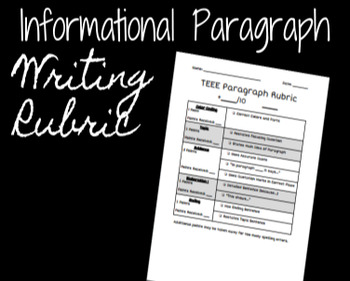 TEEE Paragraph Rubric