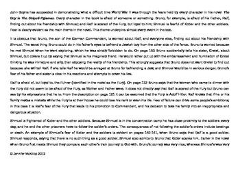 T.E.E.L. Novel Analysis Essay Scaffold & Example
