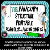 TEEL Paragraph Scaffolds and anchor charts or anchor handouts and posters