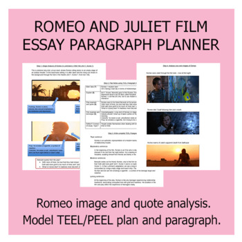 Romeo and Juliet Film Example Notetaking and Essay Paragraph