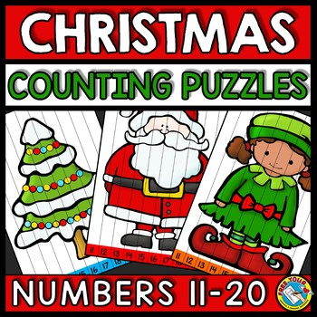 TEEN NUMBER CHRISTMAS MATH ACTIVITY KINDERGARTEN (DECEMBER MORNING WORK)