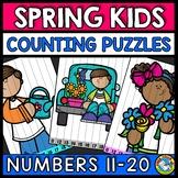 TEEN NUMBER KINDERGARTEN SPRING ACTIVITY MATH (APRIL MORNING WORK)