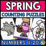 TEEN NUMBERS KINDERGARTEN SPRING ACTIVITY MATH (APRIL MORNING WORK)