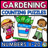 TEEN NUMBER COUNT ORDER SEQUENCE KINDERGARTEN SPRING ACTIVITY MATH MAY PUZZLES