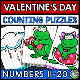 TEEN NUMBER KINDERGARTEN VALENTINES DAY ACTIVITY MATH (FEB