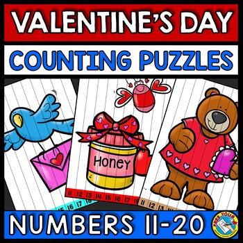 TEEN NUMBER KINDERGARTEN VALENTINES DAY ACTIVITY MATH (FEBRUARY MORNING WORK)