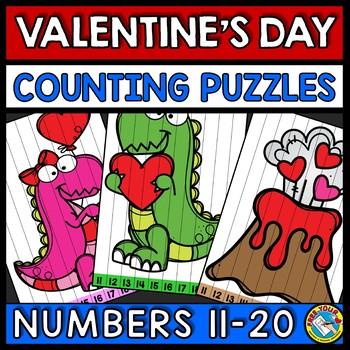 TEEN NUMBER VALENTINES DAY MATH ACTIVITY KINDERGARTEN (FEBRUARY MORNING WORK)