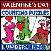 TEEN NUMBER VALENTINES DAY MATH ACTIVITY KINDERGARTEN (FEB