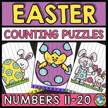 TEEN NUMBERS CENTER EASTER ACTIVITY KINDERGARTEN MATH (APRIL MORNING WORK)
