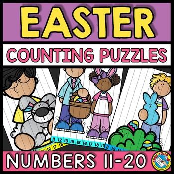 TEEN NUMBERS CENTER EASTER ACTIVITY KINDERGARTEN MATH (APRIL MORNING WORK)