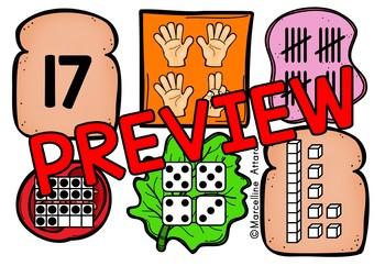 TEEN NUMBERS KINDERGARTEN (BUILD A SANDWICH) NUMBER SENSE ACTIVITY KINDERGARTEN