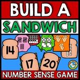 TEEN NUMBERS KINDERGARTEN (BUILD A SANDWICH) NUMBER SENSE