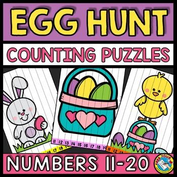 TEEN NUMBERS KINDERGARTEN EASTER ACTIVITY MATH (APRIL MORNING WORK)