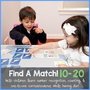 TEEN NUMBERS! (number recognition, counting & one-to-one correspondence)