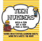 TEEN Numbers! Hands-On, Learning Sheets, Write-the-Room & More!!