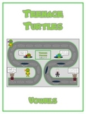 TEENAGE TURTLES Vowels- ELA First Grade Folder Game - Word Work Center