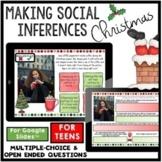 TEENS social inferences Christmas scenarios social skills google slides digital