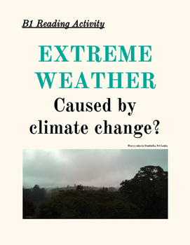 TEFL B1 READING Extreme Weather and Climate Change