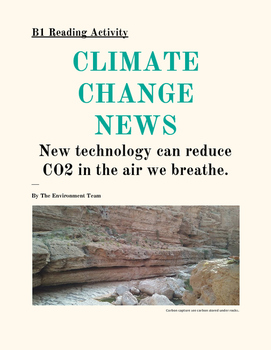 TEFL READING (B1) Climate Change