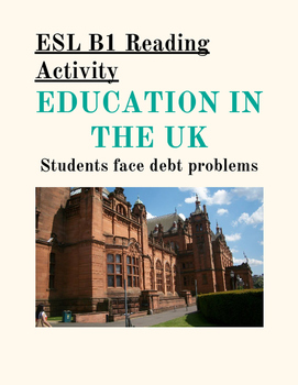 TEFL READING (B1) Education in the UK